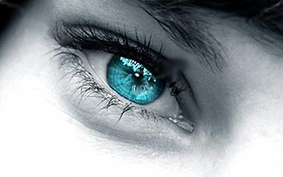 soczewki kolorowe niebieskie